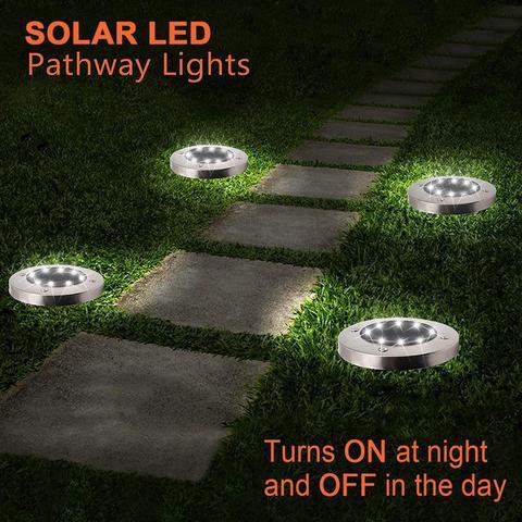 kohree 8 4pcs solar lampada do gramado