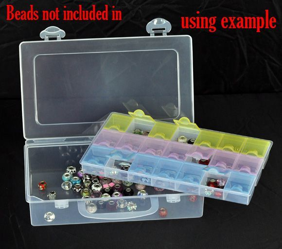 DoreenBeads Retail Beads Display Storage Container 2 Layers 22.5x13.5x5.5cm,sold per pack of 1