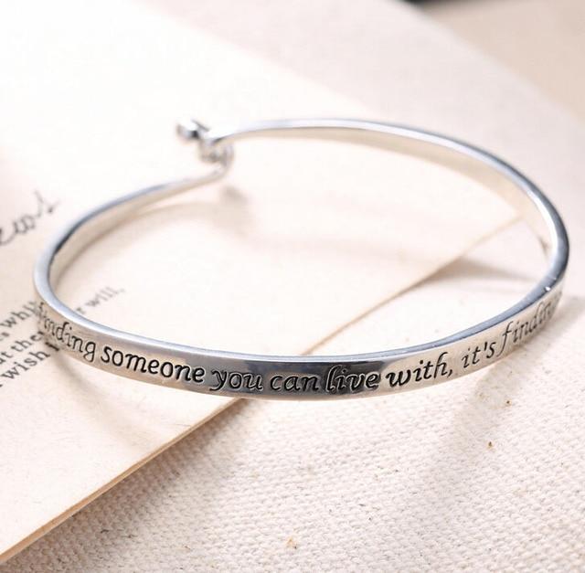 Lettrage Amour Couple femmes hommes Bijoux Argent plaqué Lettre Gravé  Bracelet Bracelet nouveau Livraison gratuite
