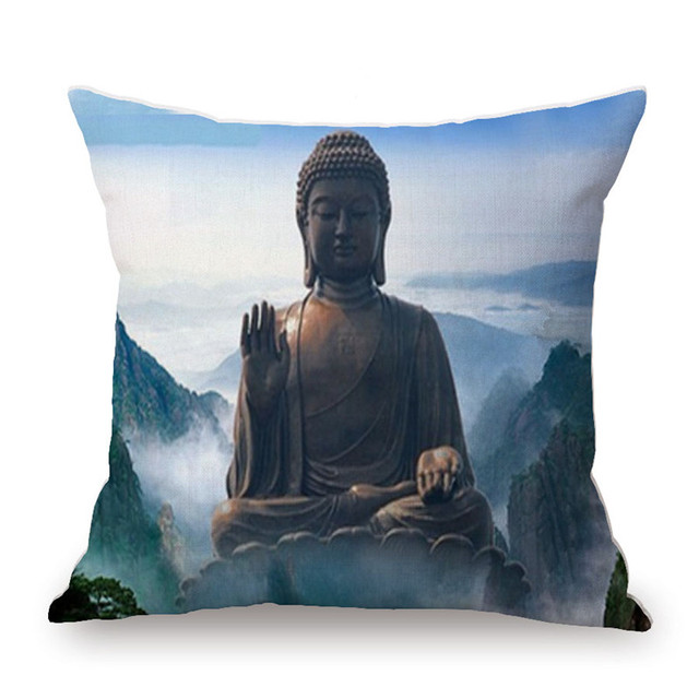 Hot New Thailand Style Cushion Cover Buddha Art Vintage Throw Pillow Magnificent Buddha Decorative Pillows