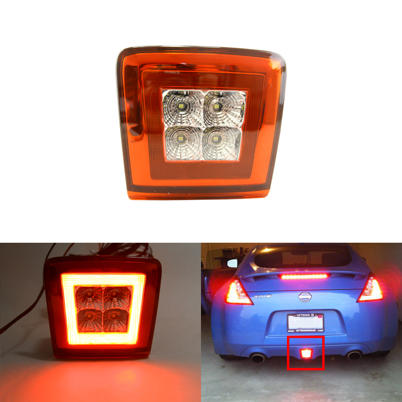 Car Styling Multi-Function Led Rear Fog Light Assemblies For Nissan 370Z Nismo Juke Rear Fog Brake Backup Reverse Lights