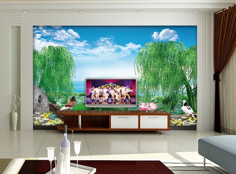Online get cheap willow wallpaper for Cheap bedroom wallpaper