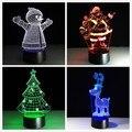Acryl 7 Farben Ändern LED USB 3D Tisch Lampe Neuheit Geschenke Weihnachten Baum Schneemann Santa Klausel Weihnachten Deer für Hause dekorationen|LED-Tischleuchten|Licht & Beleuchtung -