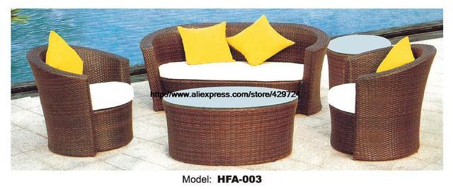 Caña de jardín Muebles ratán sofá otomana mesa de sofá de caña ...