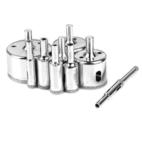 10PCS/set 6-50mm Diamond Coated Core Hole Saw Drill Bits Tool Cutter For Tiles Marble Glass Granite Drilling 1