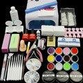 Herramientas Del Clavo caliente de arte opcional 36 W Lámpara UV 12 UV Color Gel + Kits de manicura Herramienta del Arte Del gel Del Constructor set + de La Gota gratis