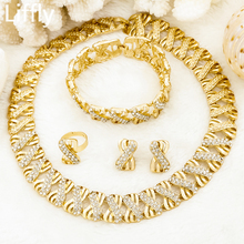 Liffly Nigeria Jewelry Sets for Women Africa Beads Jewelry Set Dubai Gold Wedding Bridal Fashion Jewelry Sets Womens Accessories 2015 new fashion dubai gold plated jewelry set africa nigeria s wedding beads jewelry plating 18 k retro design