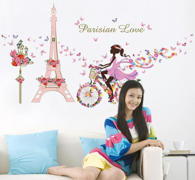Cartoon Fairy Tale Princess Kids Baby Bedroom Wall Stickers Decals Home Decor Temporary Wallpaper House Living