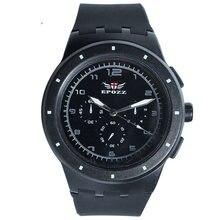 ee3f8ef03c61 Marca EPOZZ ronda Simple moda casual reloj negro cuarzo analógico banda de  silicona Casual joven estudiante