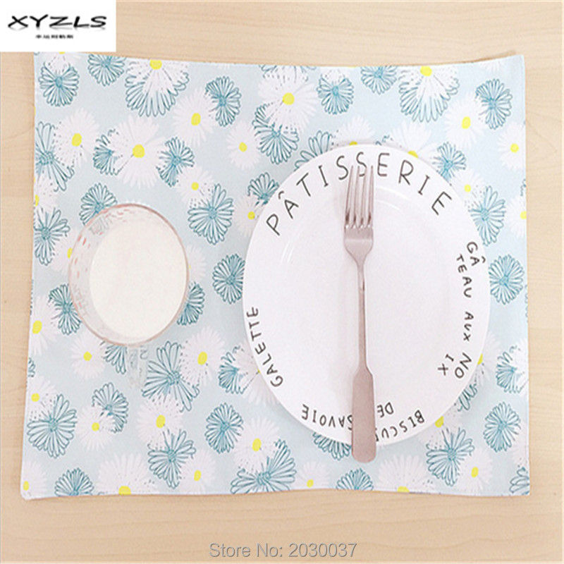 Cloth Table Napkin Cotton Linen Daisy Printed Home Napkin Dinner Serviette Restaurant Korean Style Napkins Tea Coffee Towels