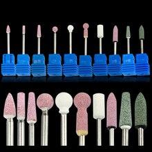 1 шт. 10 стиль керамический камень для ногтей сверло Фрезерный резак чистый Маникюр для электрических ногтей дрель инструмент салон файл Burr TRMS01-10