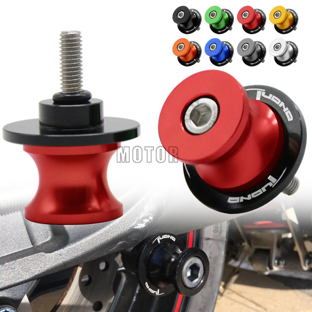 6MM For Aprilia Tuono CNC Motorcycle Motorbike Rear Swingarm Sliders Spools Stand Paddock Screws Swing Arm Protector Cover 6 MM