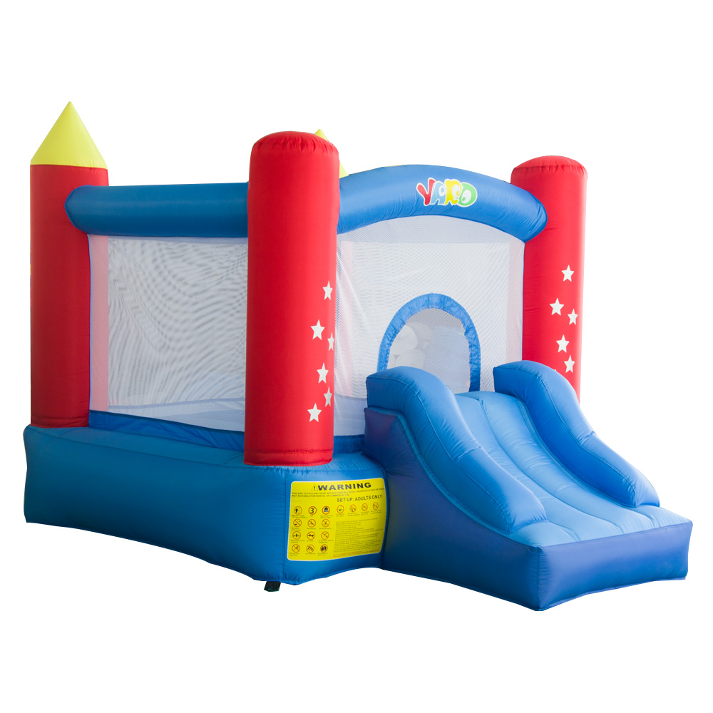 YARD Residebtial Inflatable Castle House Trampoline Jumping With Slide Blower For Kids Inflatable Games Bouncer Outdoors yard inflatable jumper bouncy castle nylon bounce house jumping house trampoline bouncer with free blower for kids