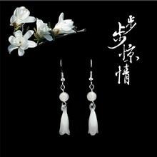 New 2017 Trendy 925-sterling-silver Retro glass Magnolia For Women Elegant Lady Prevent Allergy Super flash