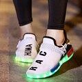 2016 Высокое качество Моды Свет Обувь Любителей Моды Летний Новый 7 Цвета мужчины Световой Свет Повседневная Обувь