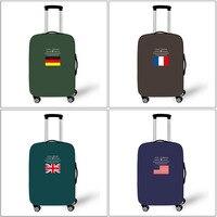Bandiera nazionale Più Spessi Dei Bagagli di Corsa Della Calotta di protezione Per Caso Valigia 18 ''-28'' Tronco Valigia Accessori Da Viaggio