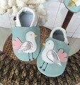 2017 Новый стиль овчины детская обувь Кожаные детские мокасины мальчики впервые ходунки новорожденных девочек обувь малыша милые новорожденные обувь