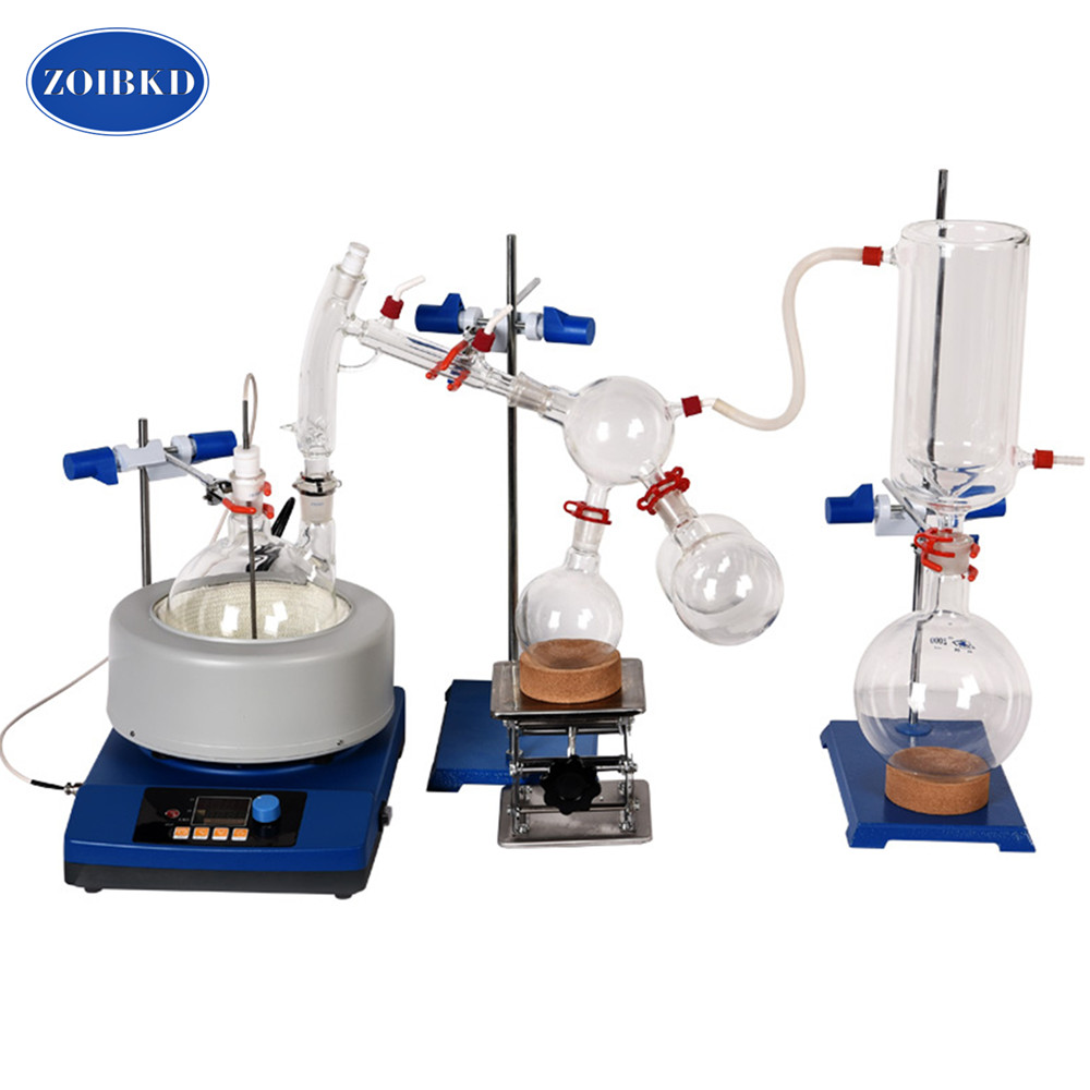 все цены на Lab Small Short Path Distillation Equipment 2L Short Path Distillation With Stirring Heating Mantle Include Cold trap