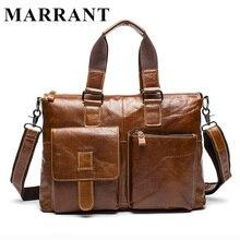 MARRANT Genuine Leather Men Bags Fashion Messenger Bag Man Leather Laptop Briefcase Men's Travel Bag Crossbody Shoulder Handbag