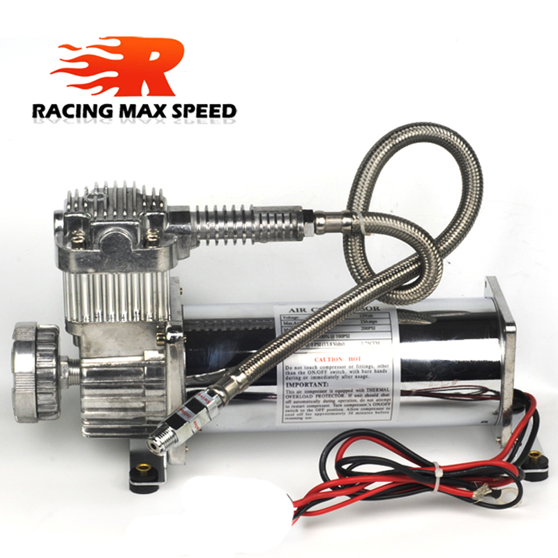 Universal DC 12V 480c MAXPOWER 200 PSI OUTLET 3 8 car Air Suspension Compressor Pump in Power Steering Pumps Parts from Automobiles Motorcycles