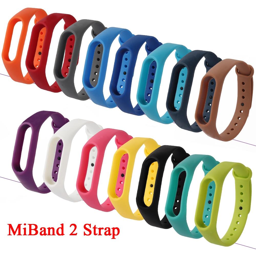 Replacement Mi Band 2 Strap Silicone Wriststrap Accessories Anti-Lost Sport Straps For Xiaomi Miband 2 Smart Bracelet