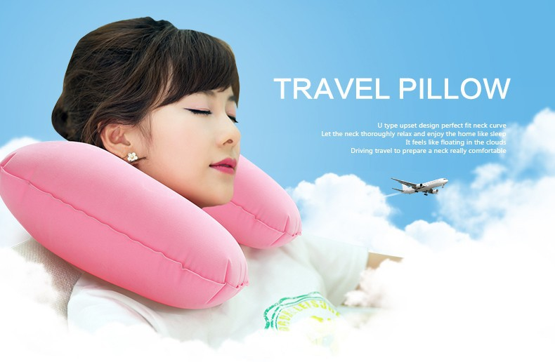 Opblaasbaar kussen u nekkussen reiskussen vliegtuig kussen kopen
