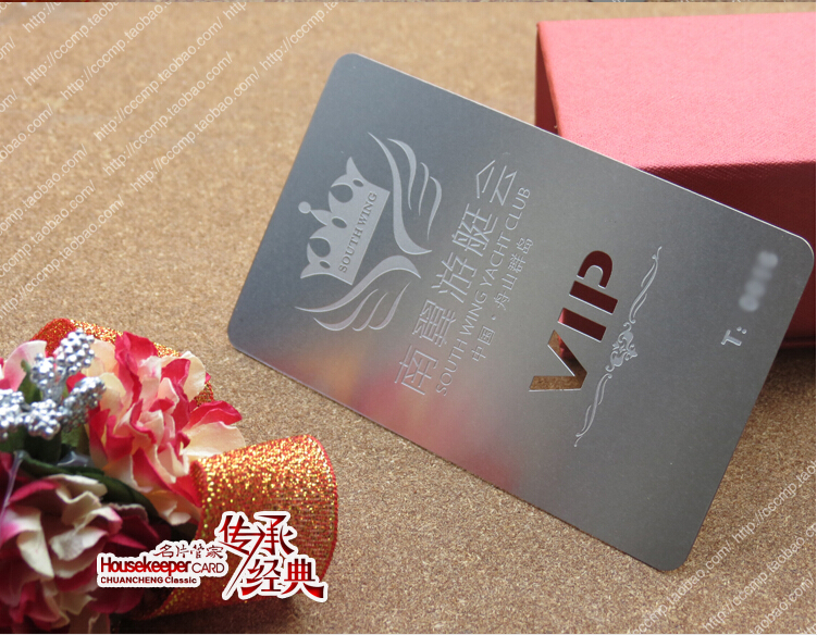Metallic Color, Metal Business Cards , 100pcs A Lot  Deluxe Metal Business Card Vip Cards,Double-side Free Shipping  NO.3054