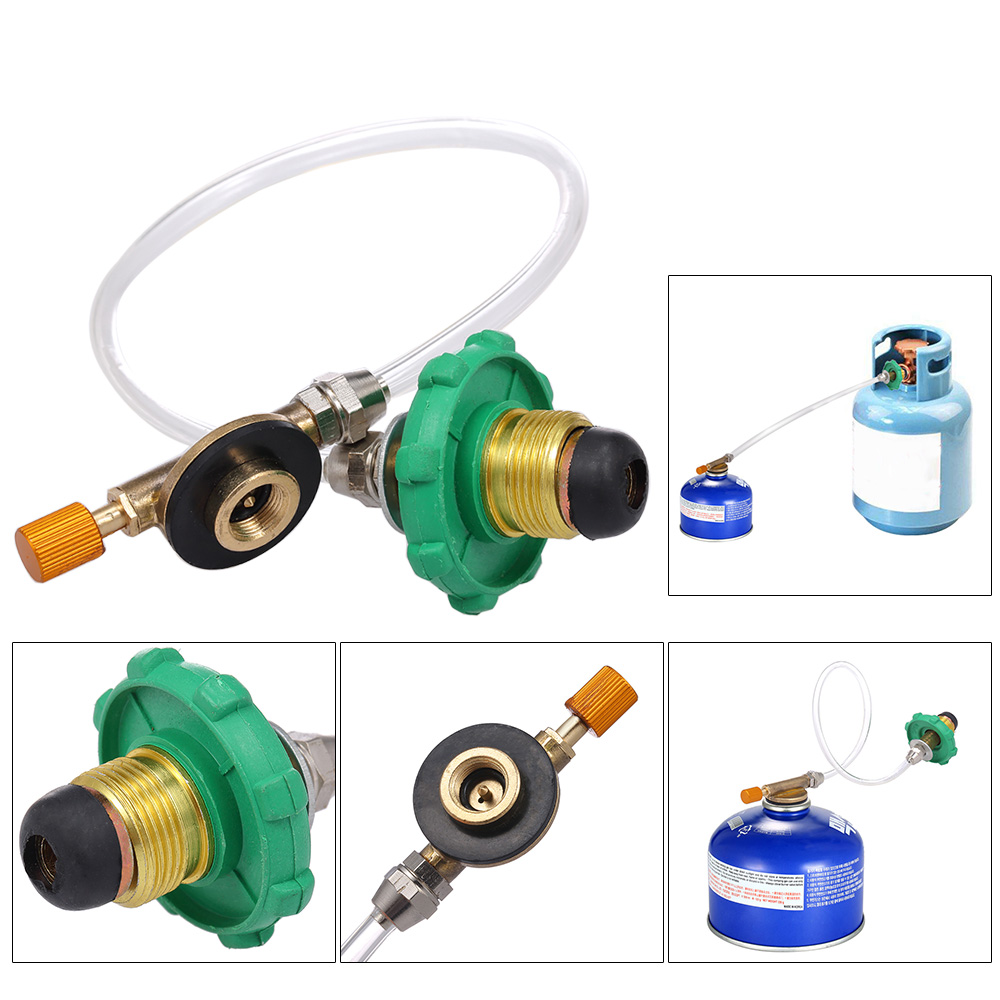 UK/_ LC/_ Propane Refill Adapter LP Gas Cylinder Tank Coupler Heater Camping Tools