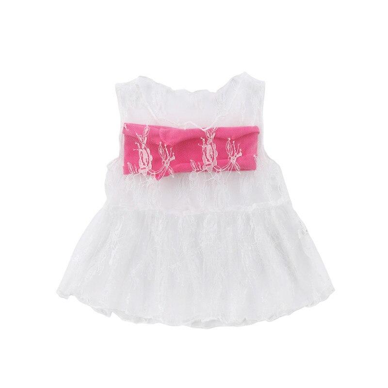 2 StÜcke Baby Mädchen Spitze Mini Beiläufige Bluse Shirt Tube Tops Outfits Kleidung Kleinkind Entzückende Baby Mädchen Weißer Spitze Tutu Hemd