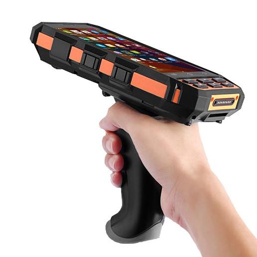 5 pouce Robuste De Poche Mobile Bornes Wifi Bluetooth GPS Caméra 4g 1D Barcode Scanner De Poche PDA Scanner Avec Pistolet grip