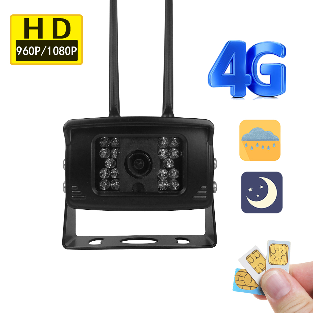 1080P HD Wireless 4G GSM SIM Card Waterproof Car camera wifi android SD Card Night IR CCTV Cam Security APP For Remote Hotspot