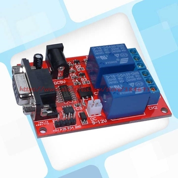 NEW SR-104A serial control 2 way relay module Delay relay Single chip microcomputer controller new sr 104a serial control 2 way relay module delay relay single chip microcomputer controller