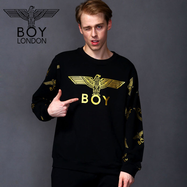 a0d7531054 BOY LONDON Fashion Men Cotton Sweatshirts Casual Long Sleeves Hoodies Gold  Character Moletom Autumn Tops Sudadera Para Hombre