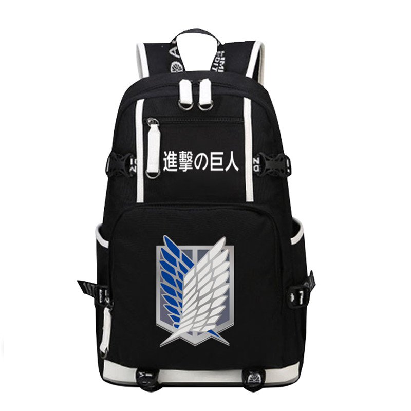 Fashion Rucksack Canvas Men Backpack Anime Attack On Titan Scout Legion Military Police Cos Printing School Bags Women Mochila