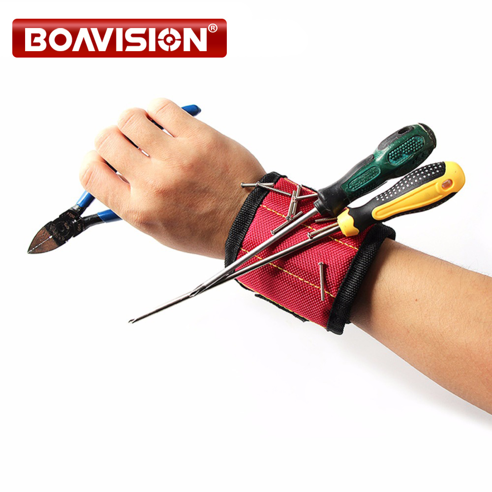 13'' Wrist Support Strong Magnetic For Screw Holder Wristband Band Tool Bracelet Belt Support Chuck Sports Protection Kit adjustable wrist and forearm splint external fixed support wrist brace fixing orthosisfit for men and women