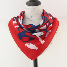 Cartoon Cute Scarf Female Student Tide summer New Comfortable Retro Small