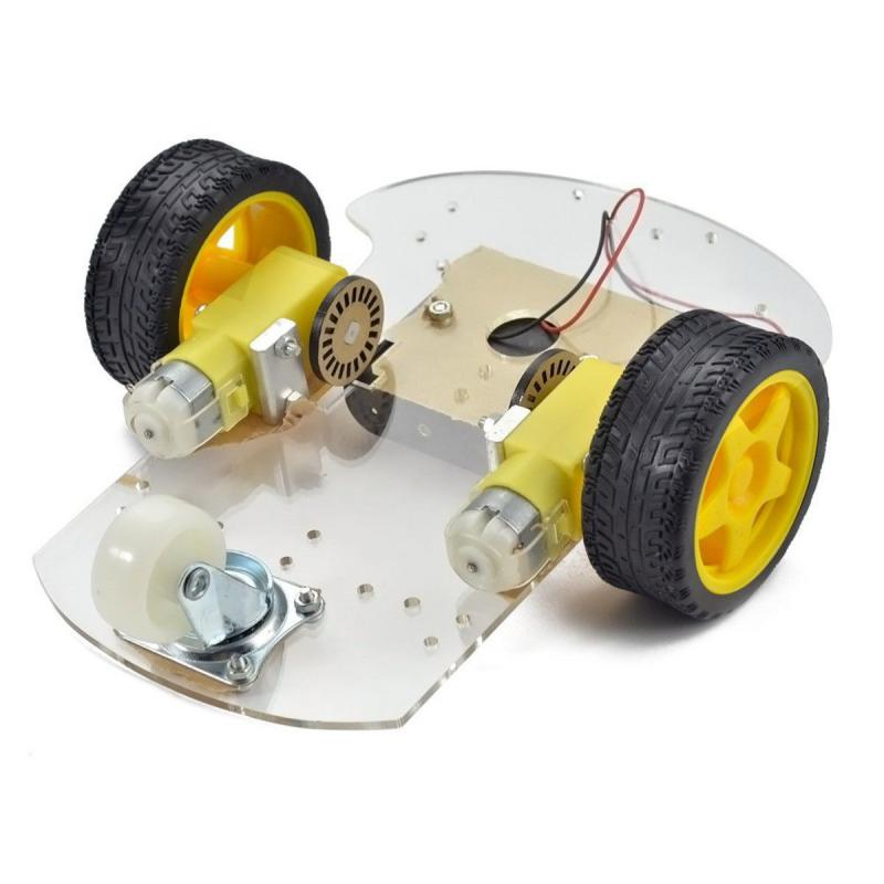 цена на DIY 2-Wheel Smart Robot Car Chassis Kit For Arduino Black + Yellow