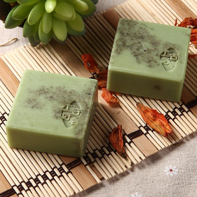 Handmade Wormwood Essential Oil Soap Anti-Allergic Exfoliating Cleansing Face 4
