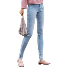 INMAN 2019 Spring Autumn light color embroidery casual high waist skinny jeans women full length pencil
