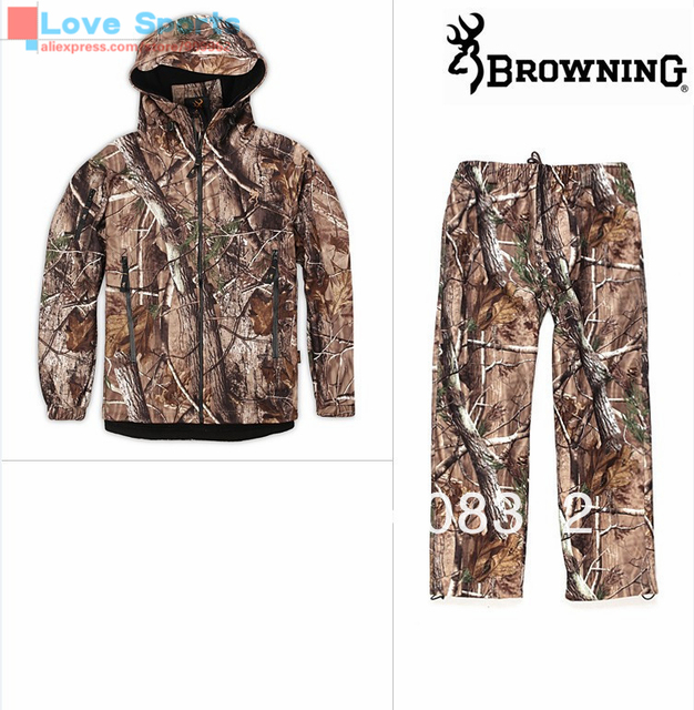 Cheap Newest  Bionic Camouflage Jungle Men Jacket and Pant Waterproof Windproof Scratchproof Spring or Autumn Hunting Suit