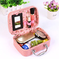 2016 New Cosmetic Case Fashion Travel Cosmetic Toiletry Bag Makeup Suitcase Crocodile Makeup Pouch Girls Women Handbag P008