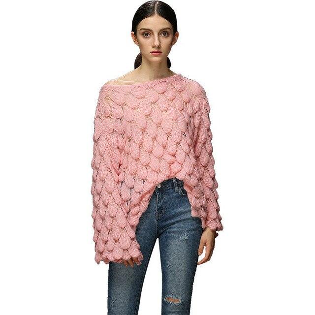 גבירותיי סרוג הולו מתוך סרוגה קיץ סוודר חולצות נשים רשת דק בתוספת גודל גבירותיי לסרוג Loose סוודרי סוודרים נקבה