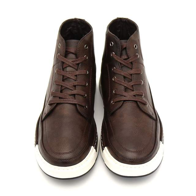 2871d93239b8 placeholder BIMUDUIYU Autumn New high-top Men s Ankle Boots Fashion Tie  Casual Non-slip Waterproof