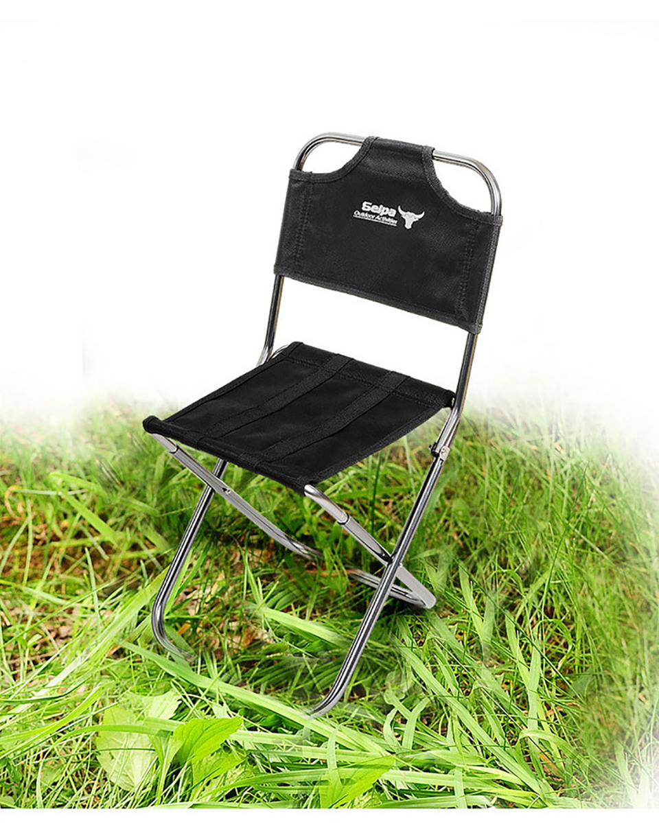 Image 5 - Light Outdoor Fishing Chair by Strong Aluminum Alloy Nylon Camouflage Folding Small Size Chair Camping Hiking Chair Seat Stool-in Fishing Chairs from Sports & Entertainment