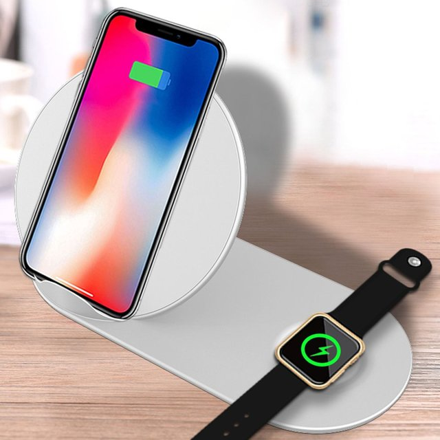 Aigo Multi-function Two-in-one Wireless Charger For iPhone XR For Apple XS Charging