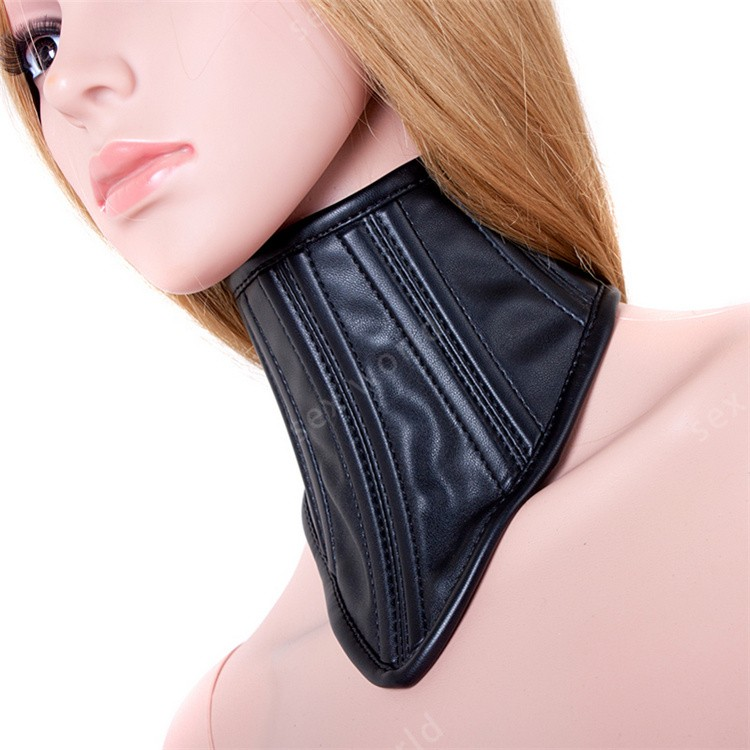 Sexy Posture Neck <font><b>Collar</b></font> Role-Playing Black Queen Noble Slave <font><b>Dog</b></font> <font><b>Collars</b></font> Neck Bondage Restraints Ring Adult Games <font><b>Sex</b></font> Toys image