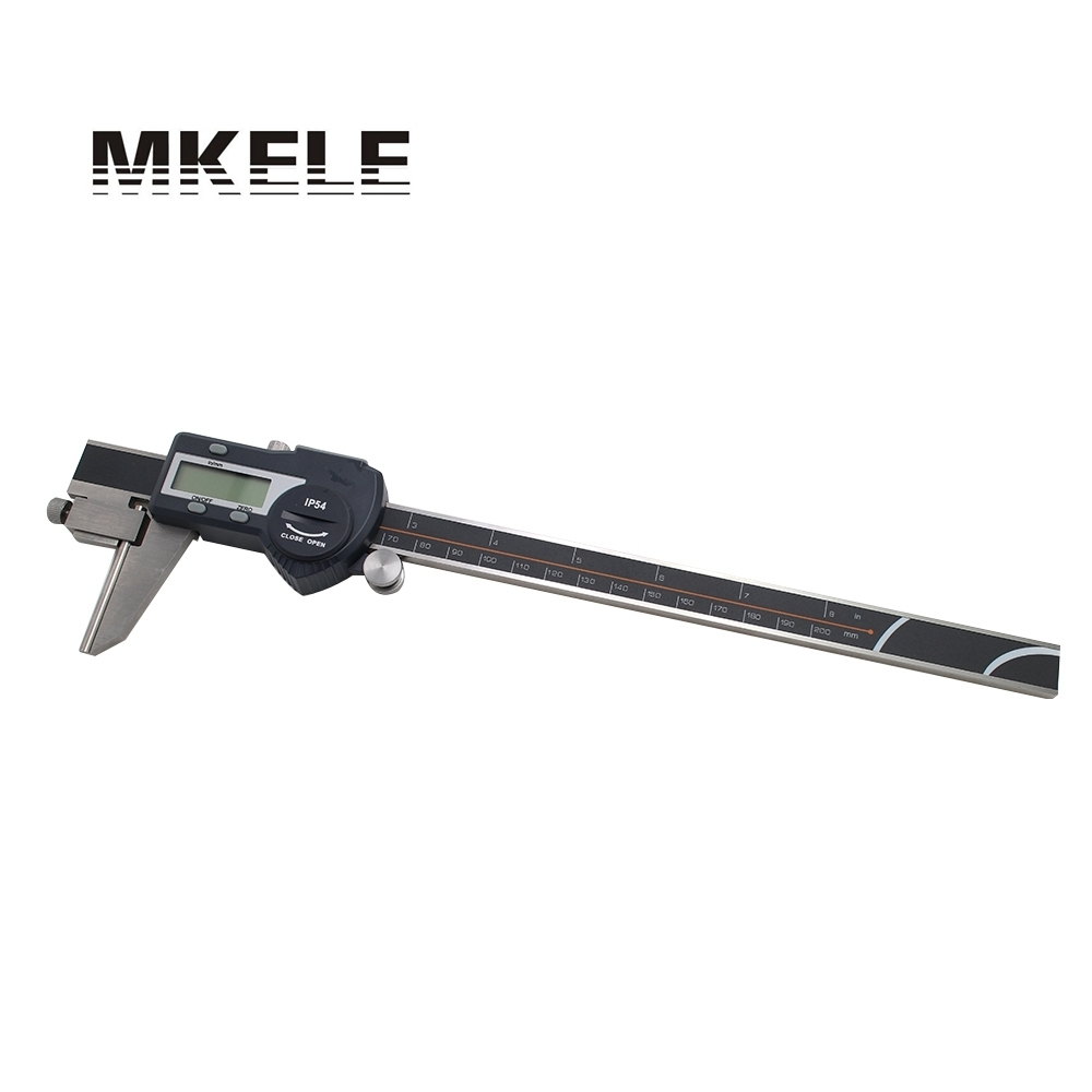 цена на 0-200mm Tube Thickness Digital Vernier Caliper High-Accuracy Digital Micrometer IP54 Waterproof Free Shipping