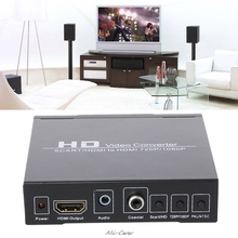 SCART+HDMI To HDMI HD Video Converter Box 720P 1080P 3.5mm Coaxial Audio Out