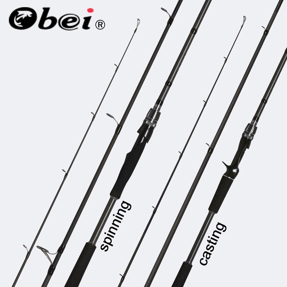 OBEI Spurs 1.98m 2.28m 2.58 seção fundição isca de pesca rod viagens 3 ultra light fundição spinning barco isca 7g-55g M/ML/MH Haste