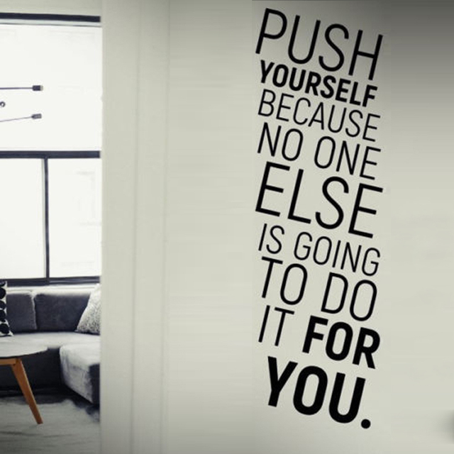 push yourself letters wall stickers for background company wallpaper